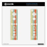 Retro stripes pattern decals for the wii remote