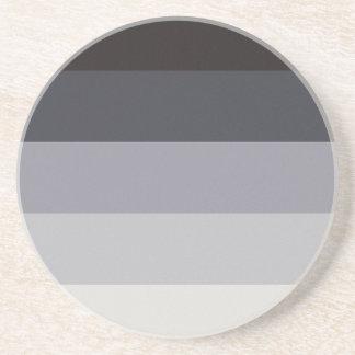 Retro Stripes Sandstone Coaster