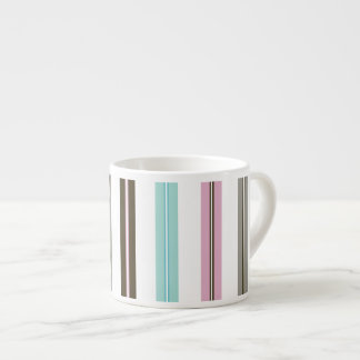 Retro Stripes 6 Oz Ceramic Espresso Cup