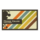Retro Stripes - Style 2 Pack Of Standard Business Cards
