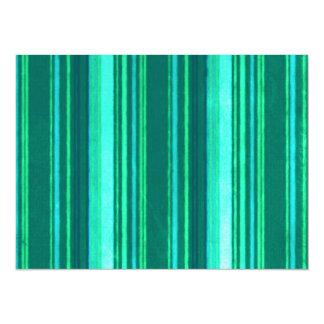 Retro Stripes Teal Green Turquoise Grunge Invitation