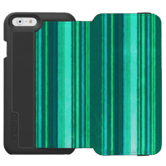 Retro Stripes Teal iPhone 6/6s Wallet Case