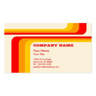 retro stripes v 2 business card