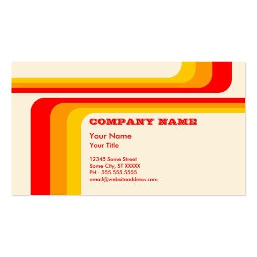 retro stripes : v.2 : business card
