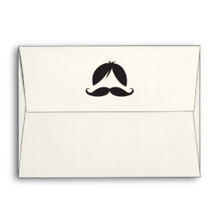 Retro stripes wig and mustache envelope