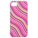 Retro Stripes with Customizable Background Color iPhone 5 Case