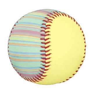 Retro Stripes Yellow Baseball