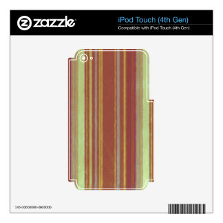 Retro Stripes Yellow Rust Stripe iPod Touch 4G Skins