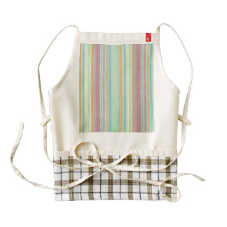 Retro Stripes Zazzle HEART Apron