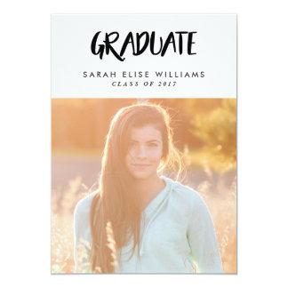 Retro Stroke Graduation Invitations