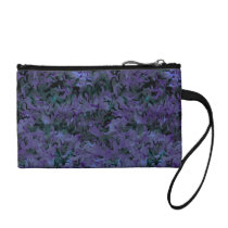 Retro Style Abstract Charcoal Purple Bagettes Change Purse