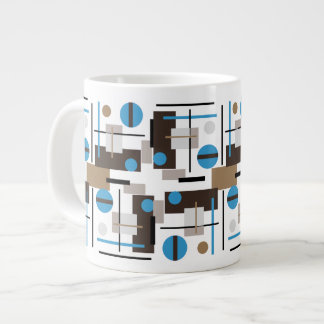 Retro style Abstract design pattern Large Coffee Mug