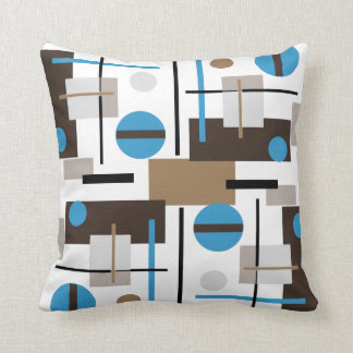 Retro style Abstract design pattern Throw Pillow