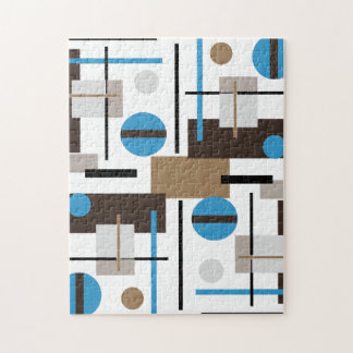 Retro style Abstract design pattern Jigsaw Puzzles