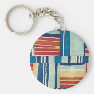 Retro Style Abstract Fabric Art Gifts - Customize Key Chain
