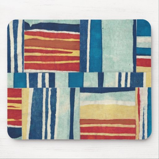 Retro Style Abstract Fabric Art Gifts - Customize Mousepads