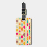 Retro style abstract pattern tags for luggage