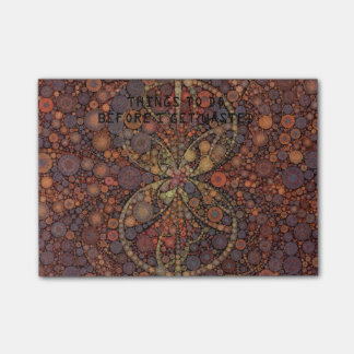 Retro Style Abstract Pattern Post-it® Notes