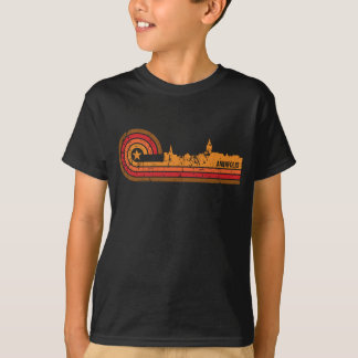 Retro Style Annapolis Maryland Skyline Distressed T-Shirt