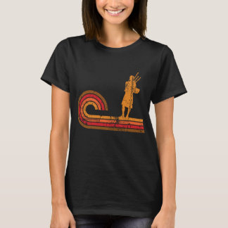 Retro Style Bagpipes Silhouette Music T-Shirt