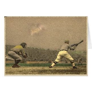Retro Style Baseball Greetings Card