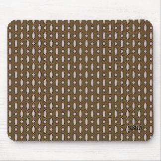 Retro Style Beaded Curtain Khaki Mouse Pad