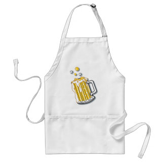 retro style beer graphic adult apron