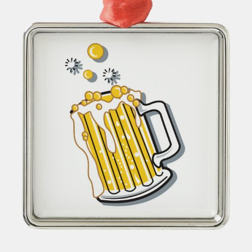 retro style beer graphic christmas ornaments