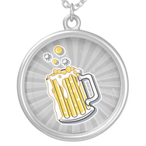 retro style beer graphic custom jewelry