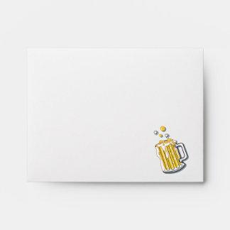 retro style beer graphic envelope