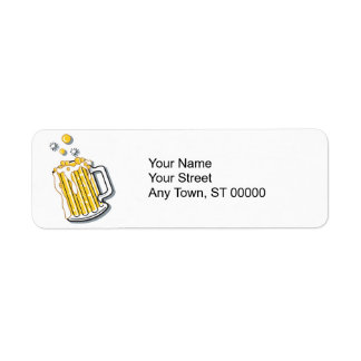 retro style beer graphic custom return address labels