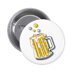 retro style beer graphic pin