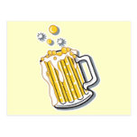 retro style beer graphic post card