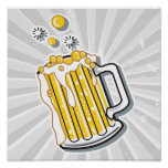 retro style beer graphic poster