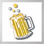 retro style beer graphic print