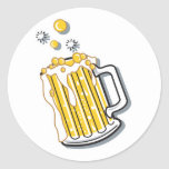 retro style beer graphic sticker