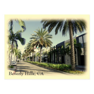 Retro Style Beverly Hills Postcard