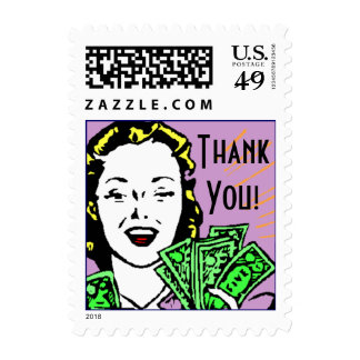 Retro Style Bill Paying Stamp Thank You! TY Stamps