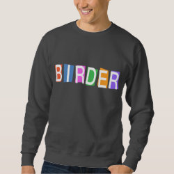 Men's Basic Sweatshirt with Retro-Style Birder design