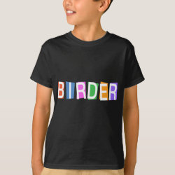 Kids' Hanes TAGLESS® T-Shirt with Retro-Style Birder design