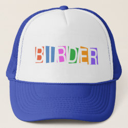 Trucker Hat with Retro-Style Birder design