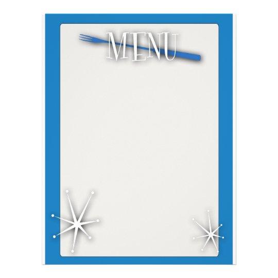 Retro style blank menu template – Blank Menu Template