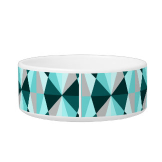 Retro style blue geometric print bowl
