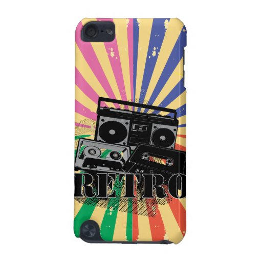 Retro style boom box and cassettes iPod touch (5th generation) cover