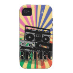 Retro style boom box and cassettes vibe iPhone 4 cases