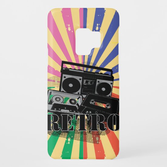 Retro style boom box and cassettes Case-Mate samsung galaxy s9 case