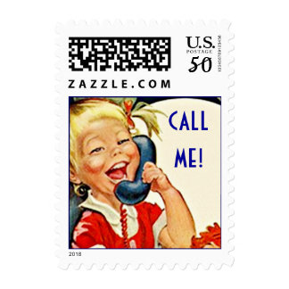 Retro Style Call Me! let's talk chat Stamp Stamps