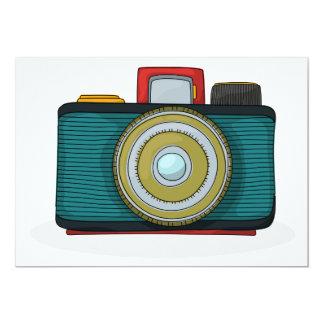 """Retro Style Camera Invitations 5"""" X 7"""" Invitation Card"""