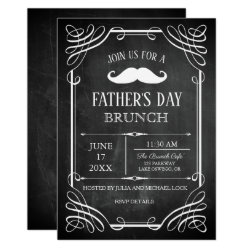Retro Style Chalkboard Father's Day Male's Party Invitation