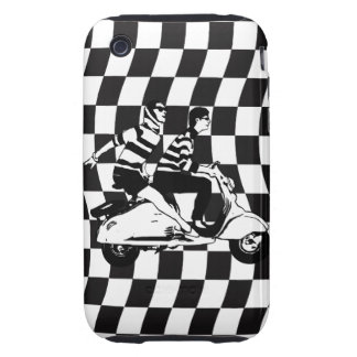 Retro style check fifties scooter couple tough iPhone 3 case